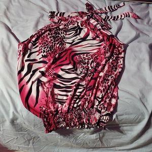 Kids pink zebra shirt